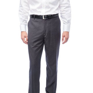 Men's Charcoal Flat Front Pants (More options available)