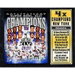Super Bowl XLVI Champion New York Giants Stat Plaque