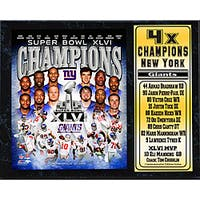 Super Bowl XLVI Champion New York Giants Stat Plaque