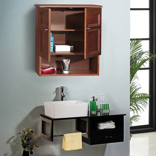 Essential Home Furnishings Lindo 2-door Weathered Wood Finish Wall Cabinet