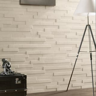 Somertile 2x9 5 Inch Aluna Multi White Porcelain Wall Tile Case Of