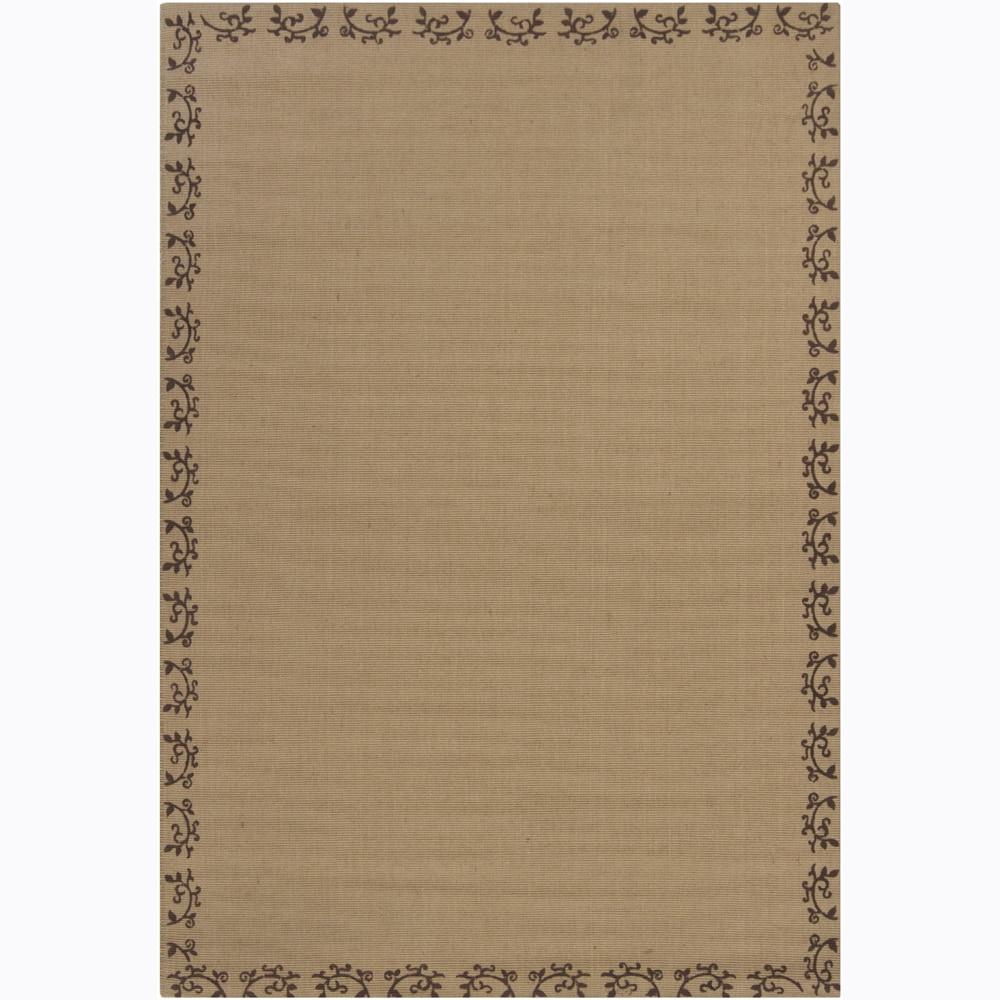 Hand-woven Mandara Tan Rug (7' x 10')