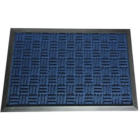 Rubber-Cal Blue Wellington Rubber Carpet Floor Mat (4' x 6')