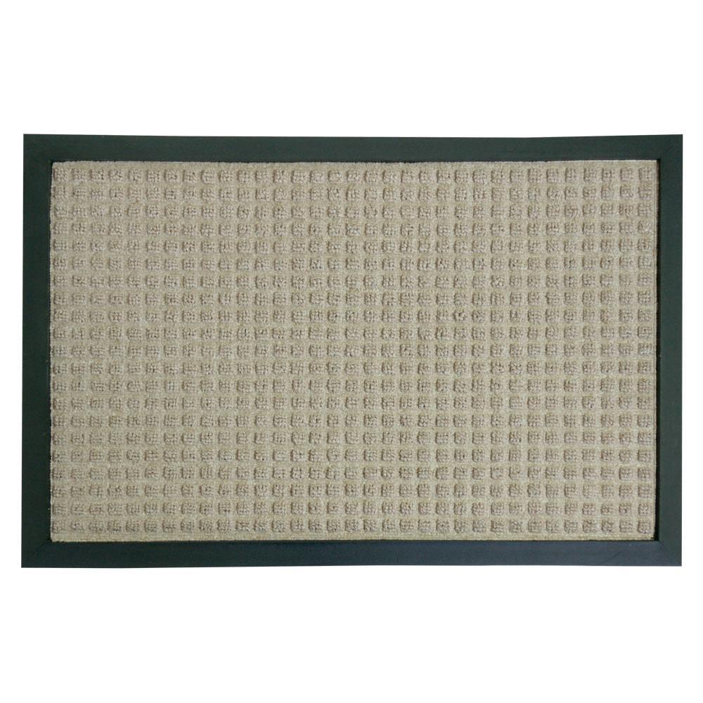 Rubber-Cal Tan Nottingham Carpet Floor Mat (4' x 6')