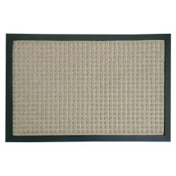Rubber-Cal Tan Nottingham Carpet Floor Mat (4' x 6')