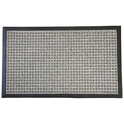 Rubber-Cal Grey Nottingham Carpet Floor Mat (2' x 3')