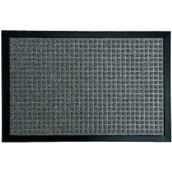 Rubber-Cal Charcoal Nottingham Entrance Door Mat (1'6 x 2'6)