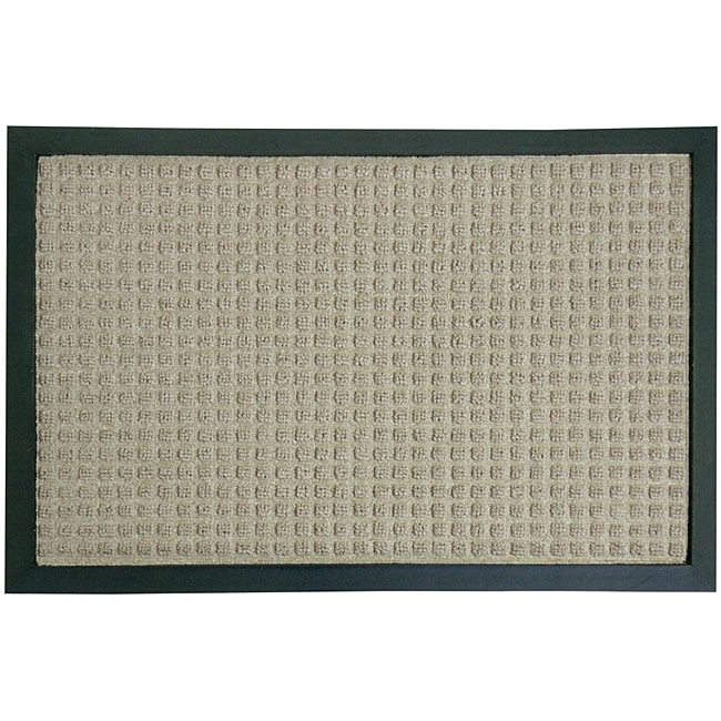 Rubber-Cal Tan Nottingham Carpet Door Mat (1'4 x 2')