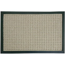 Rubber-Cal Tan Nottingham Carpet Door Mat (1'4 x 2')