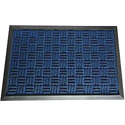 Rubber-Cal Blue Wellington Rubber Carpet Floor Mat (3' x 5')