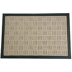 Rubber-Cal Wellington Tan Carpet Rubber Mat (2' x 3')