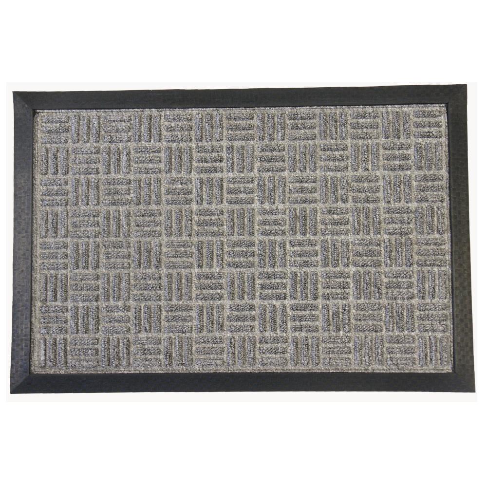 Rubber-Cal Wellington Grey Carpet Rubber Mat (2' x 3')