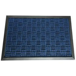 Rubber-Cal Wellington Blue Carpet Rubber Mat (2' x 3')