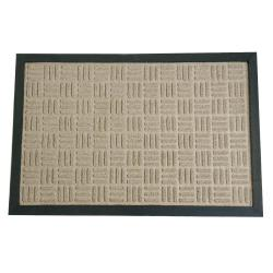 Rubber-Cal Tan Wellington Carpet Door Mat (1'4 x 2')