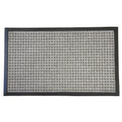 Rubber-Cal Nottingham Grey Carpet Runner Floor Mat (4' x 6')