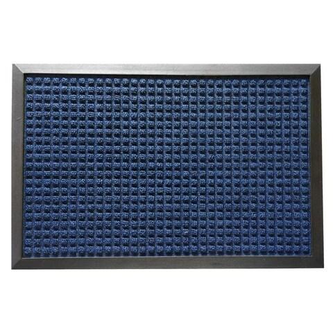Rubber-Cal Nottingham Blue Carpet Runner Floor Mat (4' x 6')