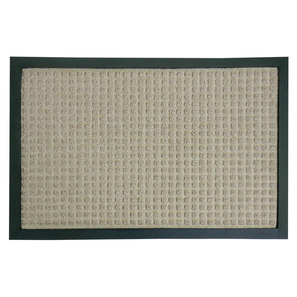 Rubber-Cal Nottingham Tan Carpet Entrance Mat (3' x 5')