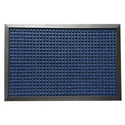 Rubber-Cal Nottingham Blue Carpet Entrance Mat (3' x 5')