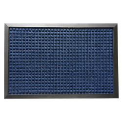 Rubber-Cal Nottingham Blue Entrance Rug Mat (1'6 x 2'6)