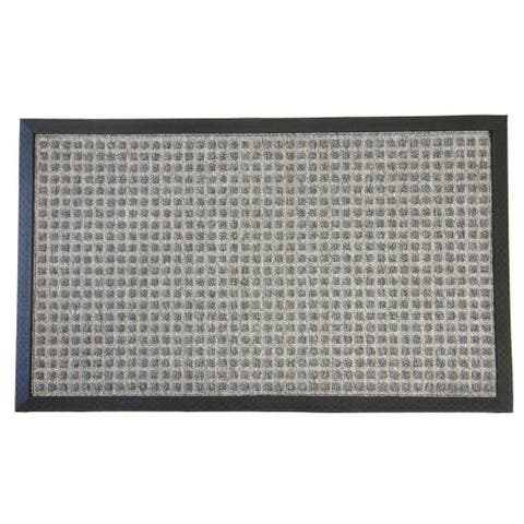 Rubber-Cal Nottingham Grey Carpet Door Mat (1'4 x 2')