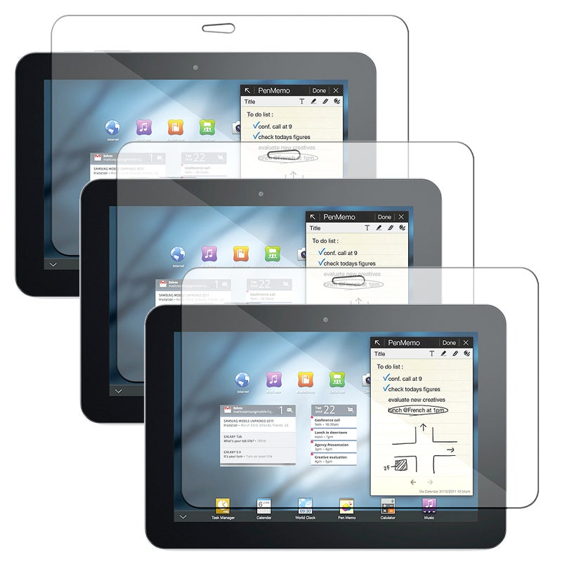 INSTEN Clear Screen Protector for Samsung Galaxy Tab 8.9-inch (Pack of 3)