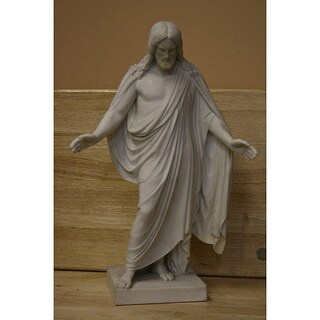 White Bonded Marble Statue of The Resurrected Christ