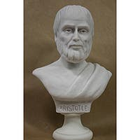 White Bonded Marble Bust of Aristotle