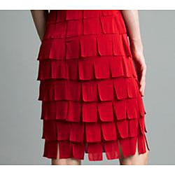 Issue New York Women's Red Tiered Ruffle Flapper Dress