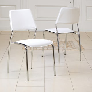 Philadelphia White Modern Chairs (Set of 2) by Christopher Knight Home