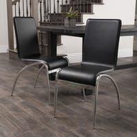 Kensington Black Modern Chair (Set of 2) by Christopher Knight Home