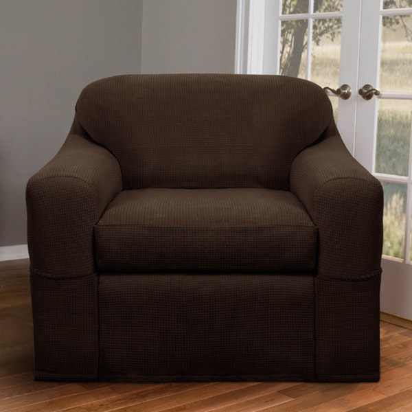 Reeves Stretch 2-piece Chair Slipcover