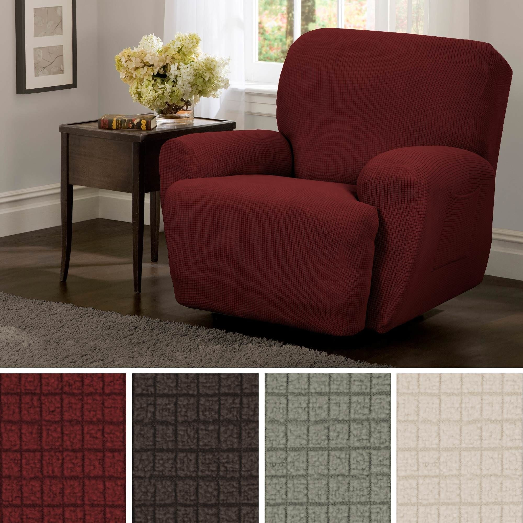 Washable Jersey Recliner Cover Lazy Boy Red Stretches