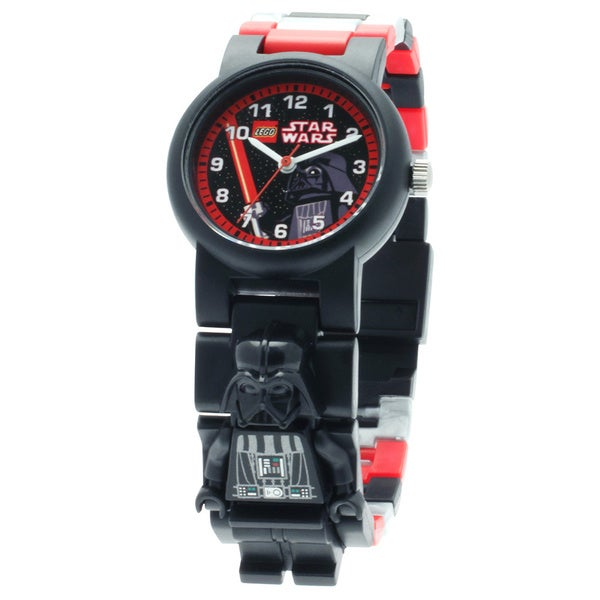 LEGO Star Wars Darth Vader Kid's Minifigure Interchangeable Links Watchtch