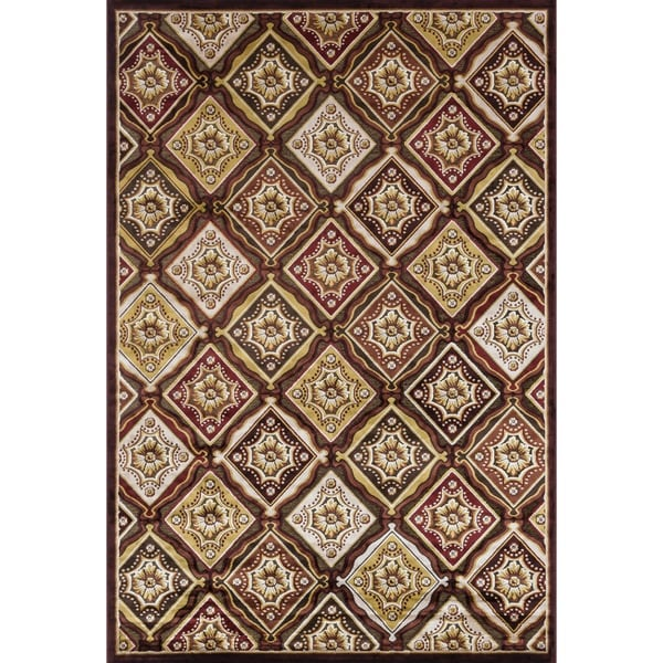 Madison Dark Brown/ Rust Rug (5'3 x 7'7)