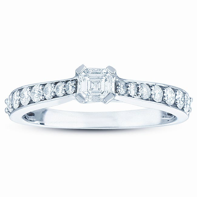 14k White Gold 3/4ct TDW Diamond Ring (H-I, I1) - Thumbnail 0