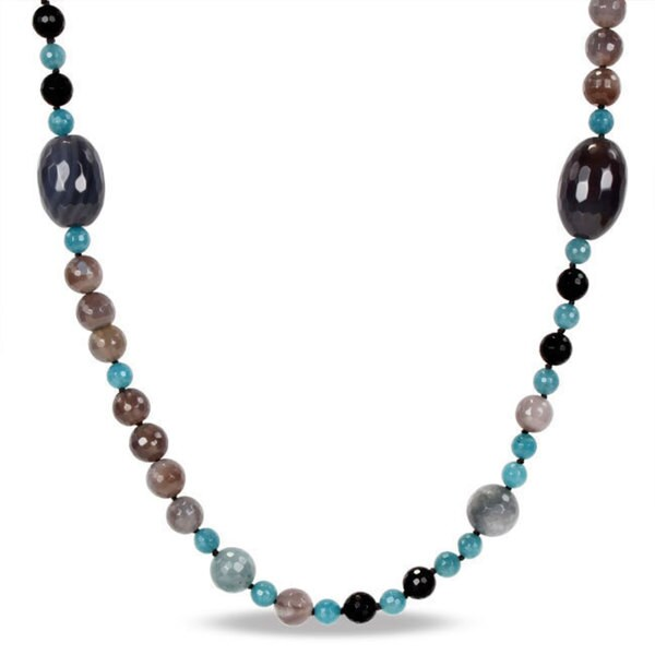 Catherine Catherine Malandrino Multi-colored Onyx Bead 46-inch Necklace