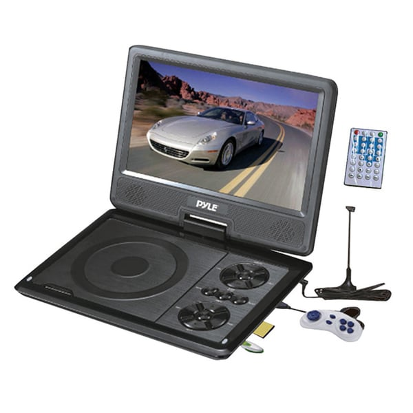 "Pyle 7"" Portable TFT/LCD Monitor W/ Built-In DVD Player MP3/MP4/USB SD Card Slot"