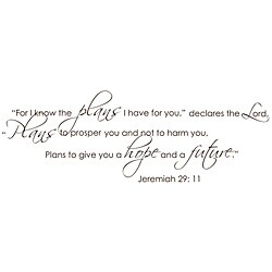 Jeremiah 29:11 Dark Brown Vinyl Wall Art
