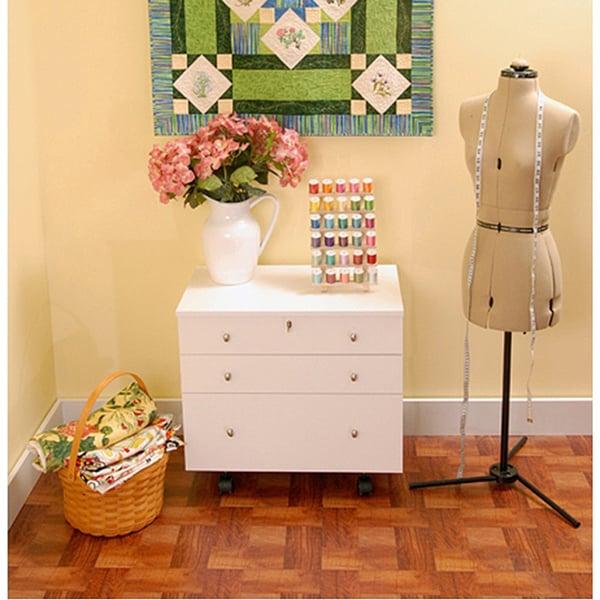 Kangaroo Kabinets 'Joey' White Ash Crafts & Sewing Machine Table Furniture Storage Cabinet -  K7811