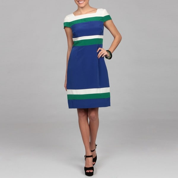 Chetta B Colorblock Dress