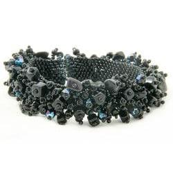 Onyx and Black Bead 'Midnight' Capullo Bracelet (Guatemala) - Thumbnail 1