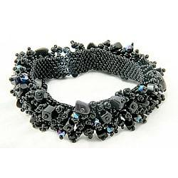 Onyx and Black Bead 'Midnight' Capullo Bracelet (Guatemala)