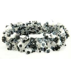 Onyx and Crystal 'Salt and Pepper' Capullo Bracelet (Guatemala)