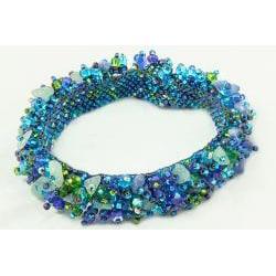 Crystal Capullo 'Royal Seafoam' Bead Bracelet (Guatemala)