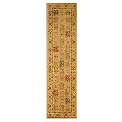 Ivory Traditional Oriental Magnificent Panel Tabriz Rug (2'7 x 9'10)