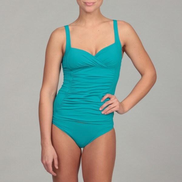 Calvin Klein Women's Shirred Tankini Top
