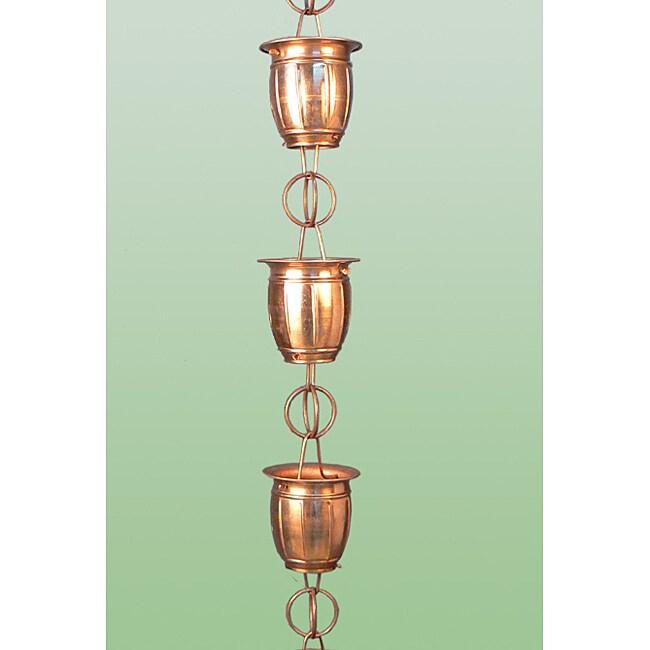 Midori Barrel Cup Copper Rain Chain
