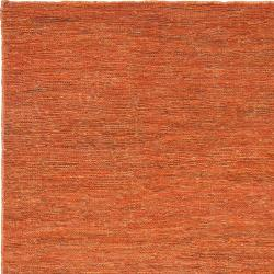 Hand-woven Orange Castilian Natural Fiber Hemp Rug (5' x 8')