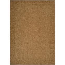 Woven Punjabi Brown Indoor/ Outdoor Border Area Rug (7'10 x 11'1) - 7'10 x 11'1 - Thumbnail 0