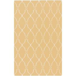 Hand-woven Min Sunflower Yellow Flatweave Wool Rug (3'6 x 5'6)